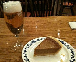 100212 生ビールとパンプキンパイ