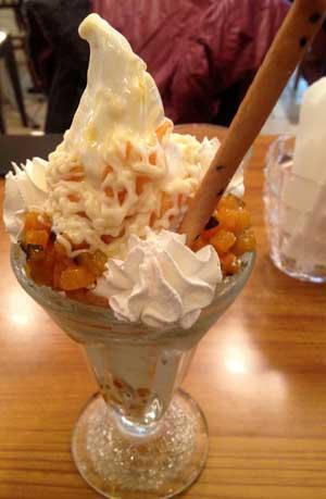かぼちゃとカスタードクリームのパフェ