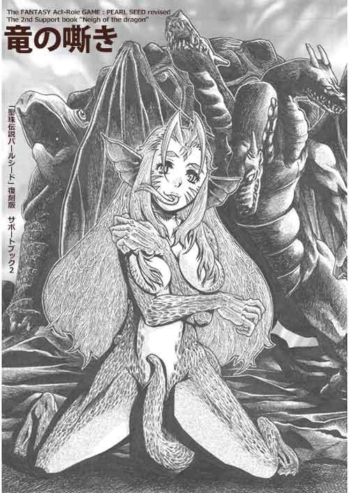 聖珠伝説パールシード同人誌「竜の嘶き」表紙